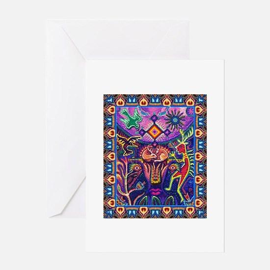 Huichol Dreamtime Greeting Card