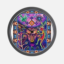 Huichol Dreamtime Wall Clock