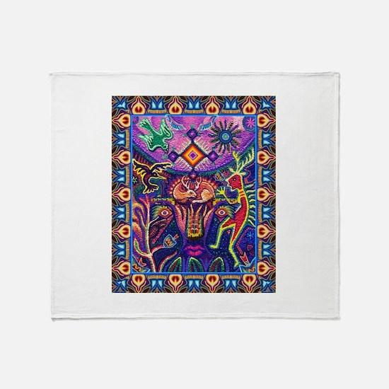 Huichol Dreamtime Throw Blanket