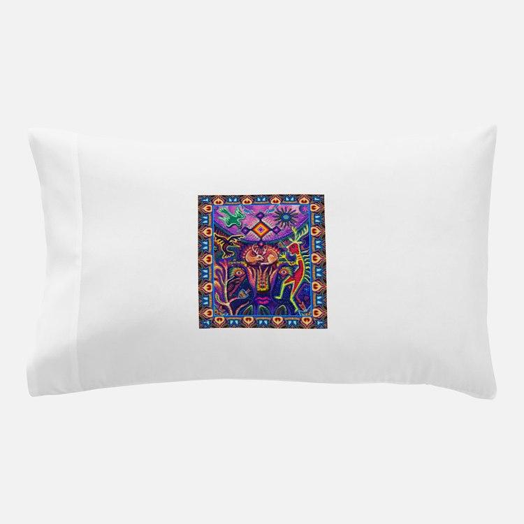 Huichol Dreamtime Pillow Case