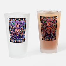 Huichol Dreamtime Drinking Glass