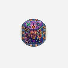 Huichol Dreamtime Mini Button
