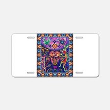 Huichol Dreamtime Aluminum License Plate