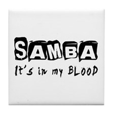Samba dance Designs Tile Coaster