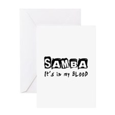Samba dance Designs Greeting Card