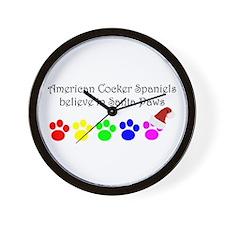 American Cocker Spaniels Believe Wall Clock