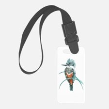 Watercolor Painting Kingfisher Bird Luggage Tag
