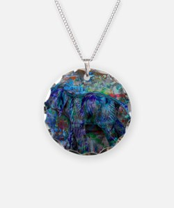 abstract elephant Necklace