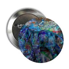 """abstract elephant 2.25"""" Button"""