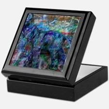 abstract elephant Keepsake Box