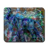 Abstract elephant Mouse Pads