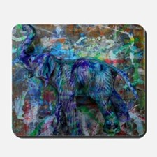 abstract elephant Mousepad