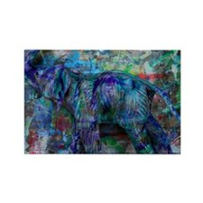 abstract elephant Rectangle Magnet