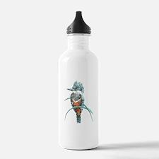 Watercolor Painting Kingfisher Bird Water Bottle
