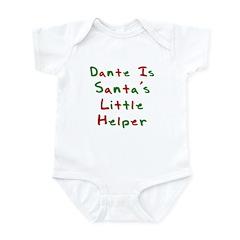 Dante Is Santa's Little Helpe Infant Bodysuit