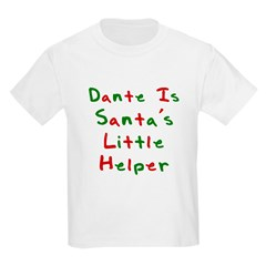 Dante Is Santa's Little Helpe Kids T-Shirt