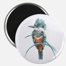 Watercolor Painting Kingfisher Bird Magnet