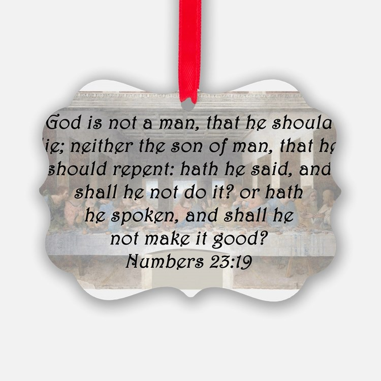 Numbers 23:19 Ornament