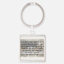 Numbers 23:19 Keychains