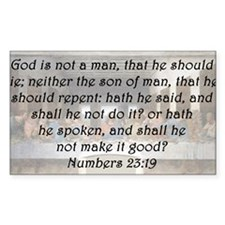 Numbers 23:19 Decal