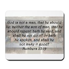Numbers 23:19 Mousepad