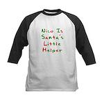 Nico Is Santa's Little Helper Kids Baseball Jersey