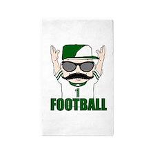 Football green 3'x5' Area Rug