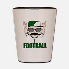 Football green Shot Glass
