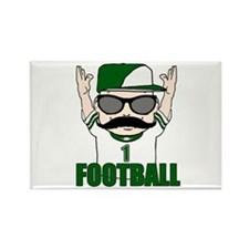 Football green Rectangle Magnet (10 pack)