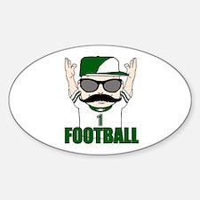 Football green Decal