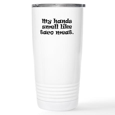 Taco Meet (in black) Stainless Steel Travel Mug