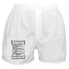Rules For Dating my Son Boxer Shorts