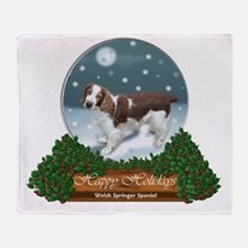 Welsh Springer Spaniel Throw Blanket