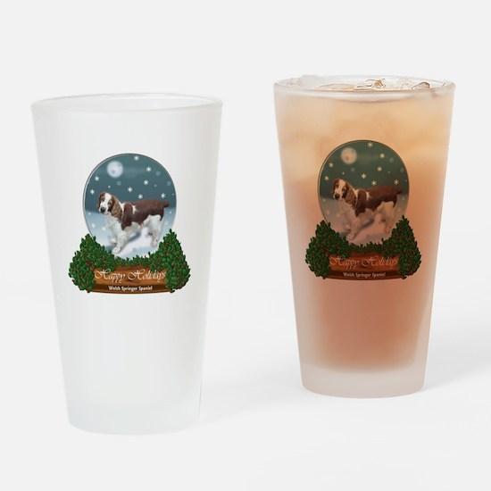 Welsh Springer Spaniel Christmas Drinking Glass