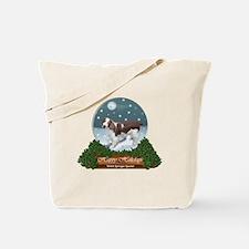 Welsh Springer Spaniel Christmas Tote Bag