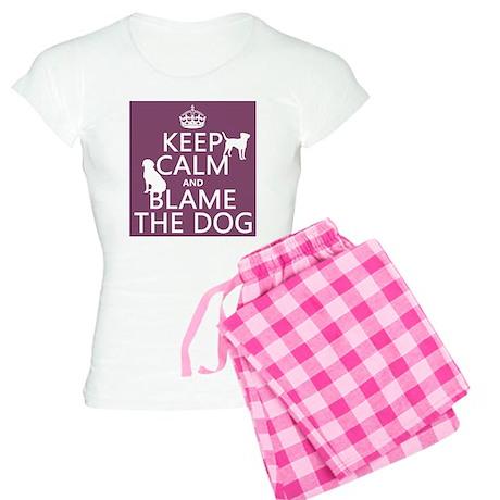 Keep Calm and Blame The Dog pajamas