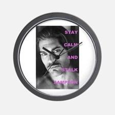 Stay Calm and Stalk Sampson #8 Wall Clock