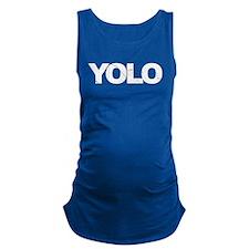 YOLO BLACK Maternity Tank Top