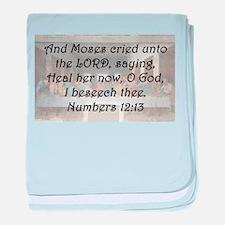 Numbers 12:13 baby blanket