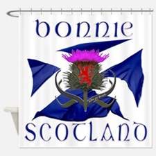Bonnie Scotland flag design Shower Curtain