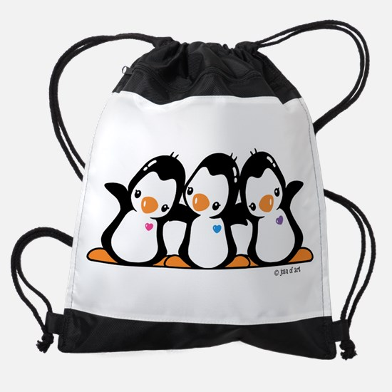 Penguins (together) Drawstring Bag