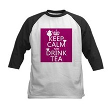 Keep Calm and Drink Tea Baseball Jersey