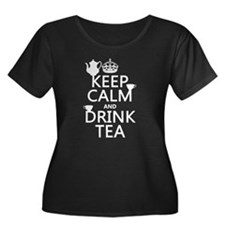 Keep Calm and Drink Tea Plus Size T-Shirt