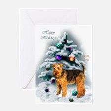 Welsh Terrier Christmas Greeting Card