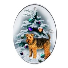 Welsh Terrier Christmas Ornament (Oval)