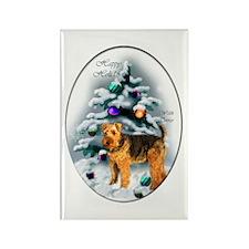 Welsh Terrier Christmas Rectangle Magnet (10 pack)