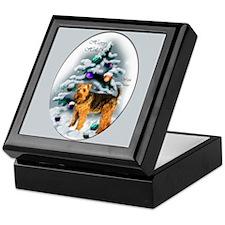 Welsh Terrier Christmas Keepsake Box