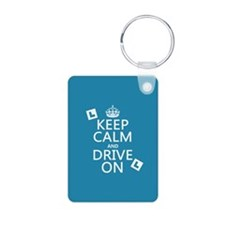Keep Calm and Drive On Keychains