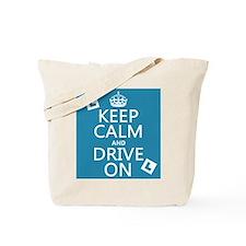 Keep Calm and Drive On Tote Bag