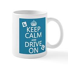 Keep Calm and Drive On Small Mug